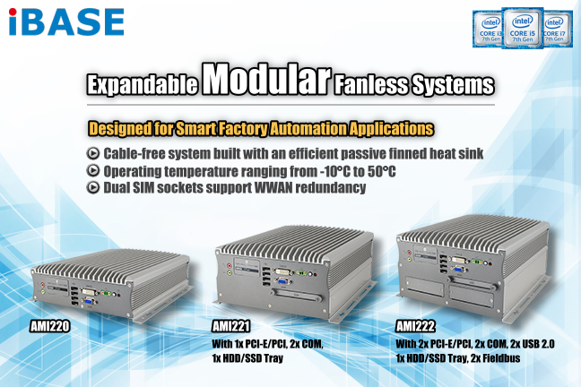 AMI222 Expandable Modular Fanless Embedded PC