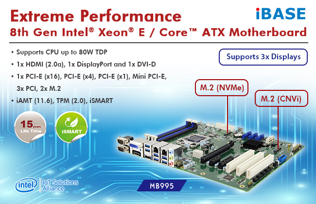 MB995 ATX Motherboard with M.2 NVMe and CNVi Functions