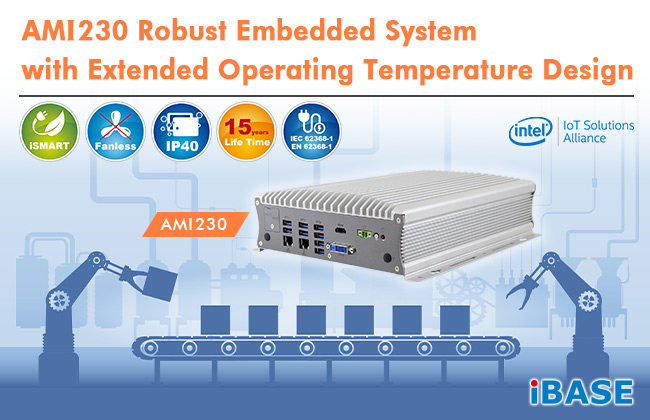 AMI230 - Robust embedded system based on the 9th/8th Gen Intel® Core™ platform